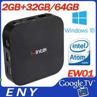 desi tv box Win10 Atom Z3735F Intel Bluetooth 4.0 RAM 2GB ROM up to128GB smart tv box