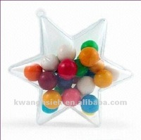 Transparent Star Shaped Plastic Candy Container