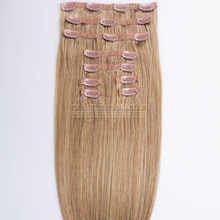 Amazing Brand Hair Extension Human Cuticle Remy Famous Brand Supplier 160G Clip on Weave Double Drawn Clip ins Hair
