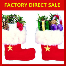 Christmas Santa Claus Snowman Decoration Xmas Gift Bag Candy Pouch Stocking