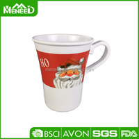 Good quality wholesale design santa father printing plastic christmas cup with handle