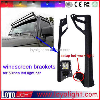 Cheapest jeep 52 inch led light bar bracket 288w 300w led bar light roof mounting bracket