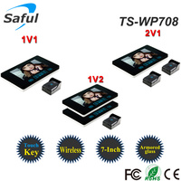 Saful TS-WP708 install video door phone, capture video door phone, multi apartments video door phone