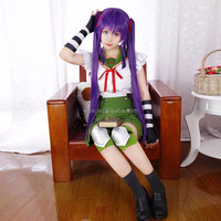 SCHOOL-LIVE! Gakkou Gurashi School Living Club Kurumi Ebisuzawa Cosplay Costume Megurigaoka High School Uniform Sailor Uniform