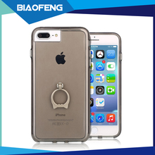 For iphone 5 se cell phone case clear tpu pc hybrid ring holder phone case