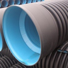 BAIJIANG Black Blue Plastic HDPE Corrugated Tube Pipe for Water Drainage Size 600mm