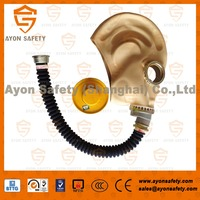 Portable Full face anti gas mask with natural rubber material-Ayonsafety