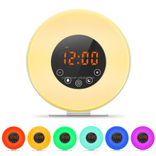 Multi-functional alarm clock with Touch LED display and 6 natural sounds, FM Radio