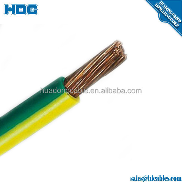 2.5mm2 4mm2 6mm2 10mm2 25mm2 35mm2 50mm2 JP ZR BVR copper conductor colored PVC insualtion house use wire class 5 copper wire