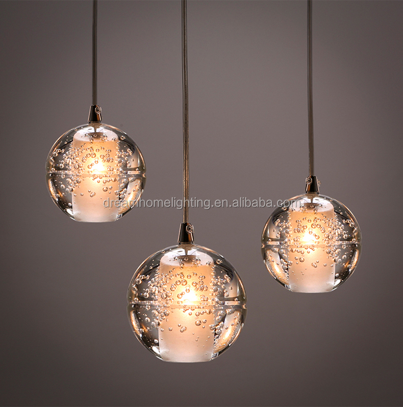 shooting star crystal ball lamp G9 LED glass modern lighting