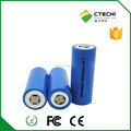 High Capacity rechargeable 26650 Lifepo4 battery 3.2V