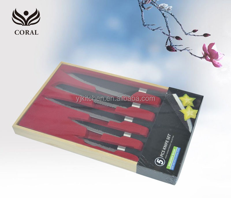 Popular non stick knife set in gift box package
