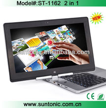 11.6 inch rotation and touch screen laptop computer with tablet and laptop functions 2 in 1