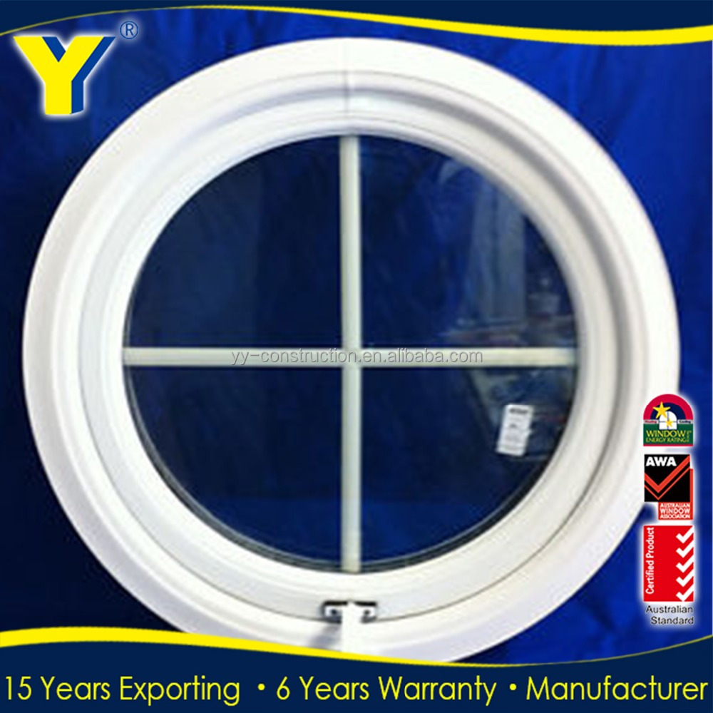 YY manufacturing double glazing round aluminium window