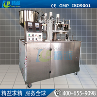 Automatic plastic tube filling and sealing machine for cosmetics,cream