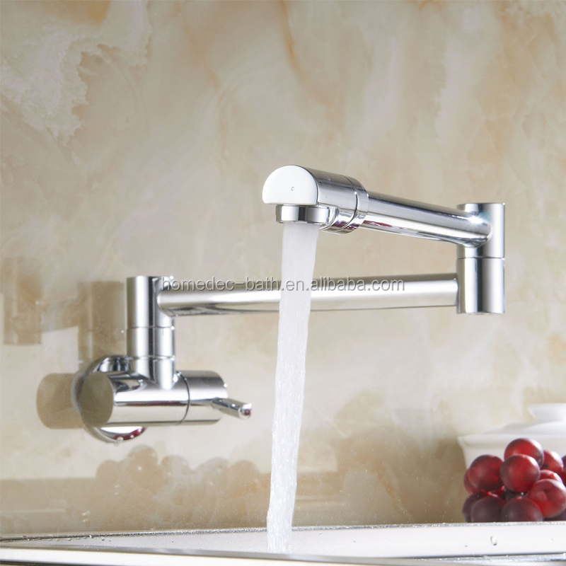 2016 Modern Design Wall Mounted Brass Kitchen Tap Folding Faucet