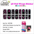 16pcs Unique Design Nail Stickers Easy to Use Manicure Products OEM Nail Art