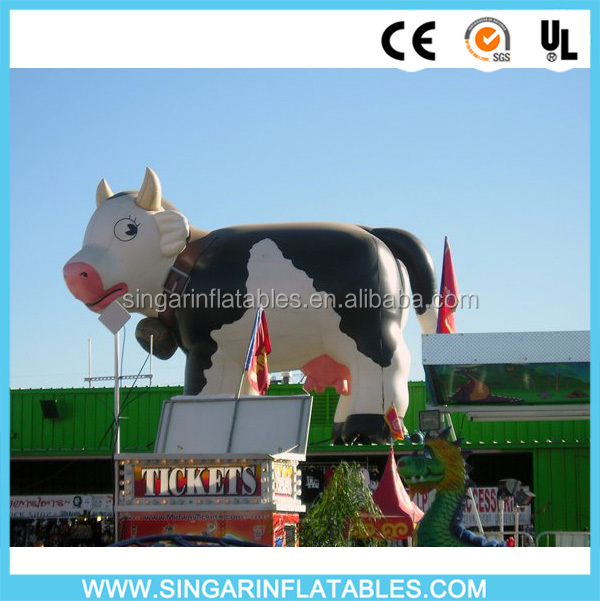 Inflatable advertising products giant inflatable milk cow for sale