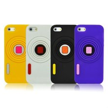 stretch camera shot silicon case for iphone 5 with high quality