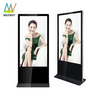 65 inch floor stand touch screen digital signage shopping mall standalone stainless steel kiosk manufacture
