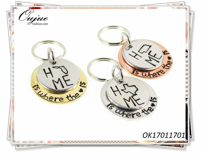 Custom Hand Stamped Key Chains Home Gifts