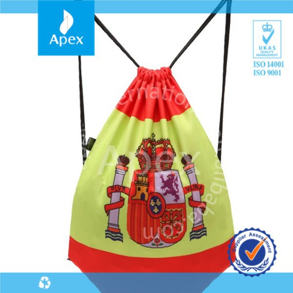 large custom printed Spain style drawstring sport shoe bag