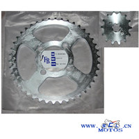 SCL-2014020308 XCD125 motorcycle chain and sprocket set for chinese motorcycle transmission parts accessories