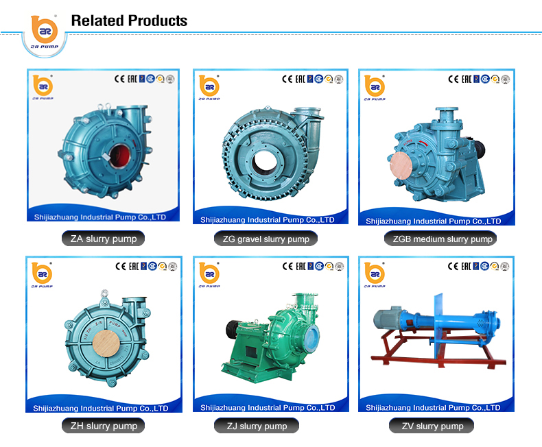standard heavy duty centrifugal 4 inch slurry pump for power