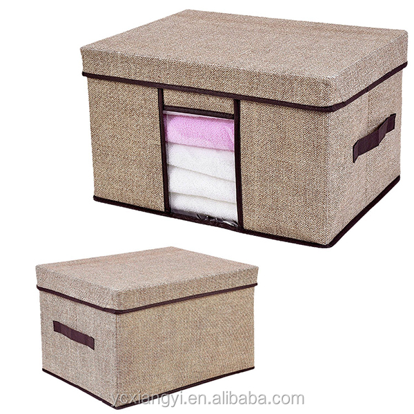 Large breathable storage box, clothes fabric storage box foldable