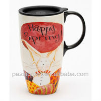 Full Color Print Ceramic Travel Mug Model CMA3126