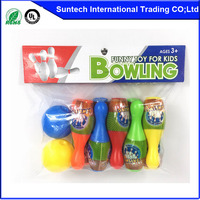 Bowling ball and pins with bubble water / bubble gun solution