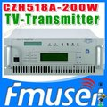 CZH6518A-200W Single-channel Analog TV Transmitter UHF 13-48 Channel mini tv transmitter