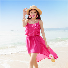 China manufacture mini dress chiffon new style new fashion ladies dress beach girls without dress for women