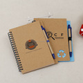 Drawing pad paper/recycled kraft cover notebook