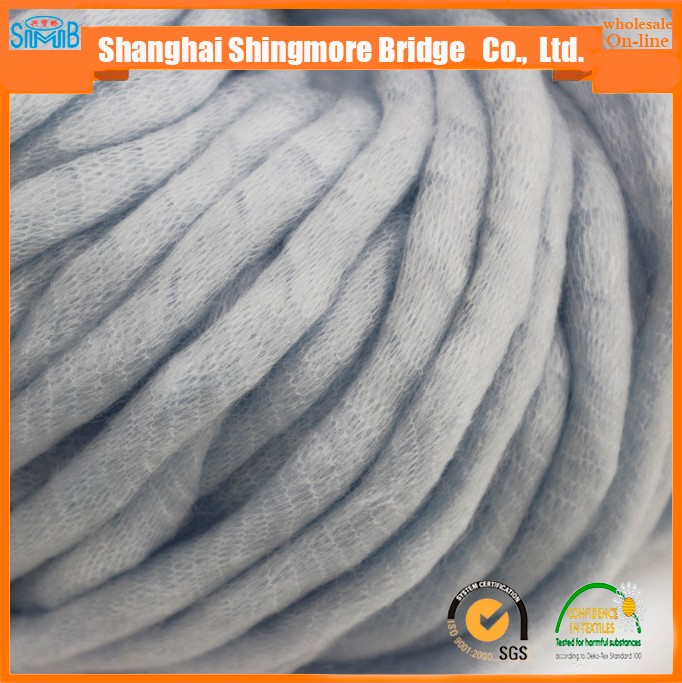 China yarn factory best price wholesale 0.4Nm 90%acrylic 10% nylon air textured super chunky yarn for hand knitting and crochet