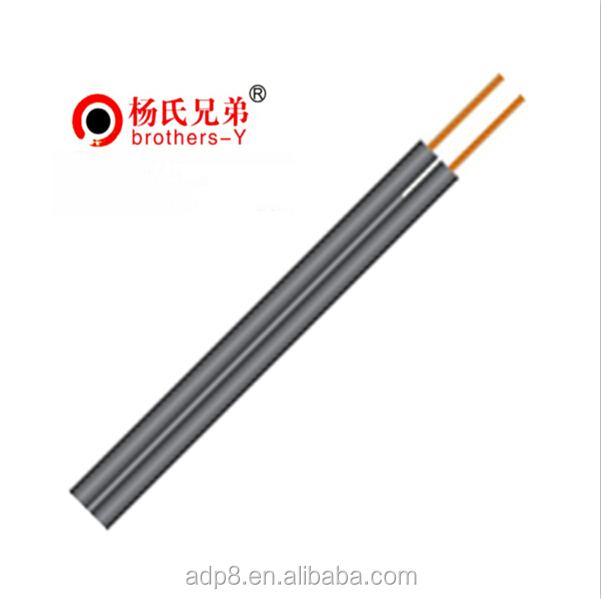 Flexible Telephone Flat FTTH Fiber Optic Drop Wire Cable