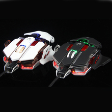 Top Quality Black and White Gaming Mouse 4000 dpi Wired Usb Mouse for Laptop