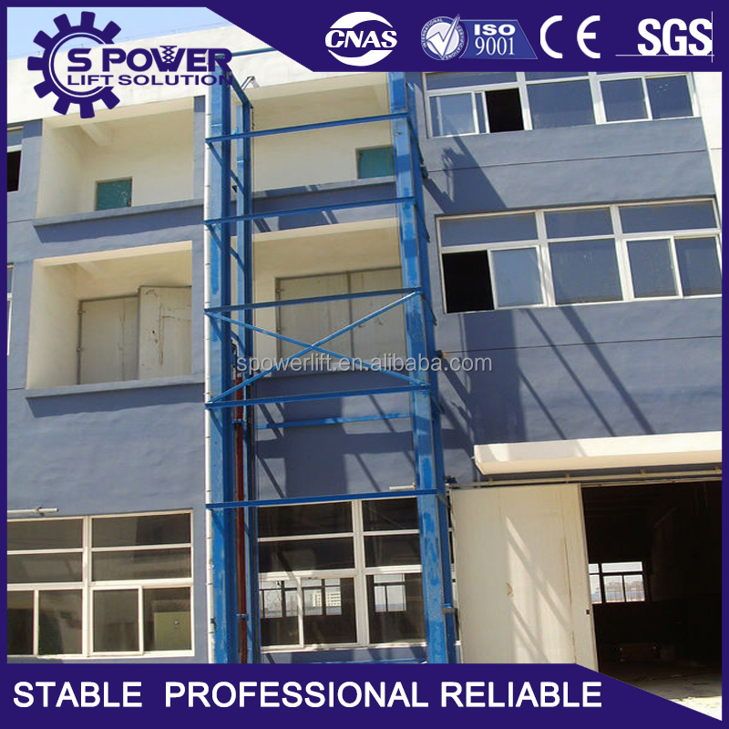 SGS9001 approved Spower new product reliable lift platform hydraulic goods lift