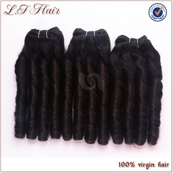 High quality candy curl hair weaving,grade 7A virgin hair,unprocessed wholesale remy Brazilian hair