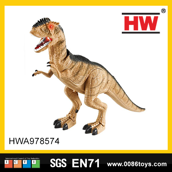 New design battery operated plastic dinosaur toys set with sound & light