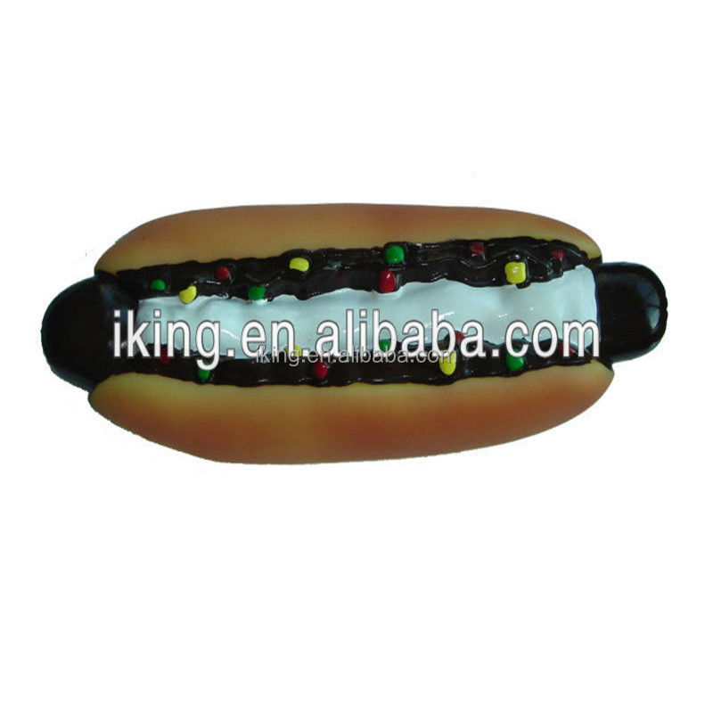 Sandwich hot dog toy squeaky vinyl food toy