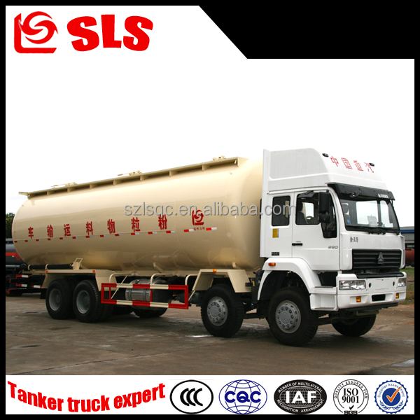Competitive price Sinotruk 8*4 bulk cement powder tanker truck,Powder and particle material truck 35cbm capacity