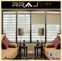 double layer office curtains and blinds