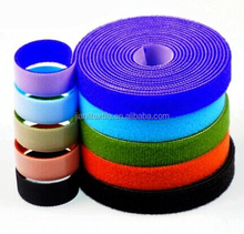 Customized colorful double sided back to back hook and loop tape