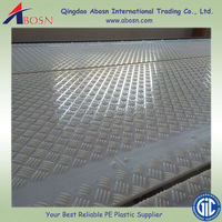 White HDPE roadmat, ground protection mat, temporary roadways