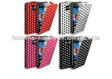 Polka Dot Flip Leather Case For Samsung Galaxy S2 I9100 with Film