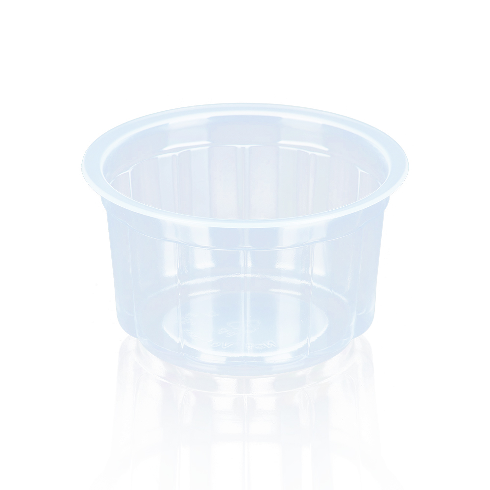 High Quality unique shape transparent PP sealable 3oz disposable pudding cups