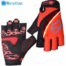 Gloves With Led Lights Half Finger Flashing Sporting Goods LED gloves Wholesales China