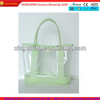 Light color Clear PVC packaging bag with zipper for promotion