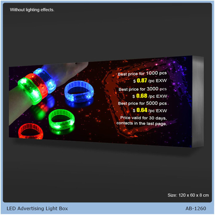 advertising led diy poster lightbox display